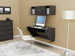 furniture grey modern wall computer desk with storage and white