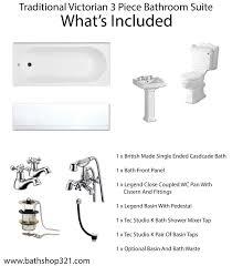traditional victorian 3 piece bathroom suite bathshop321