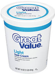 light sour cream nutrition great value sour cream light 16 0 oz nutrition information shopwell