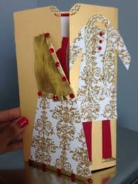 wedding cards for and groom handmade indian bridal shower or wedding card with and groom