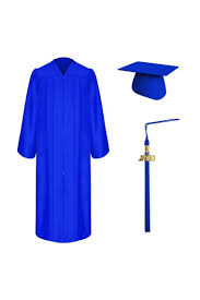 cap and gown high school matte royal blue graduation cap gown tassel set high school
