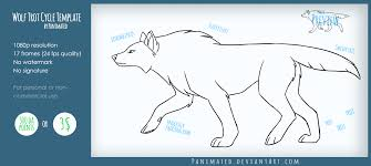 wolf trot cycle animated template by panimated on deviantart