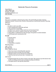 resume examples for bartender really good resume examples resume