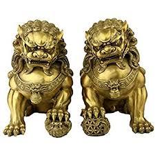 foo dog lobezm large pair bronze lion foo dog statue