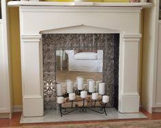 Fireplace Cover Up Decorative Tin Fireplace Cover With A Nice Vintage Style From