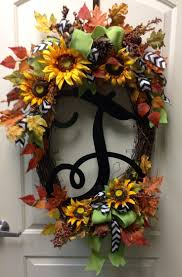 Halloween Wreaths Pinterest by 64 Best Sunflower Wreaths Etc Images On Pinterest Sunflower
