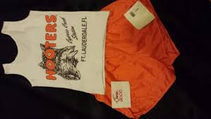 Halloween Hooters Costume Free Hooters Uniform Large Rare Halloween