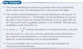 Normal Distribution Table 2 Normal Distributions Ghci Grade 12 Mathematics Of Data Management