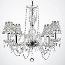 Iron Chandelier With Crystals Sears Com