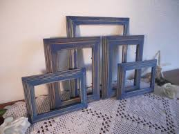 Rustic Shabby Chic Home Decor Blue Frame Set Rustic Shabby Chic Distressed Navy Photo Collection