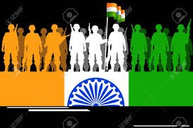 Flag If India Illustration Of Tricolor Soldier Forming Flag Of India Royalty