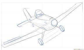how to draw dusty crophopper from disney planes step by step