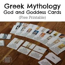 greek mythology god and goddess cards researchparent com