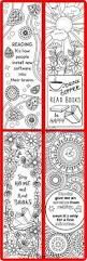 printable 8 coloring bookmarks 4 quotes 4