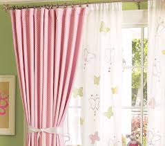 Pink And White Curtains For Nursery Splendid White Curtains For Nursery Designs With Ba Nursery