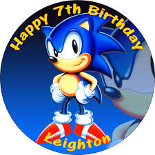 sonic the hedgehog cake topper tinkerbell edible cupcake toppers printed inch cake