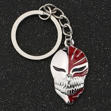 silver skeleton ring holder images Bleach keychain kurosaki ichigo hollow mask logo death skull jpg