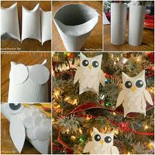 how to make snowy glitter owl ornaments