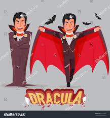halloween vampire character design typographic treatment stock