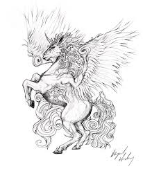 tattoo design unicorn by abz j harding on deviantart