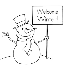 mr snowman says happy winter coloring page free u0026 printable