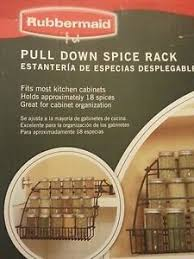 Rubbermaid Spice Rack Pull Down Rubbermaid Pull Down Cabinet Spice Rack On Popscreen