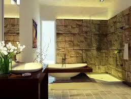 romantic spa bathroom decor with gas fireplace and oval shape