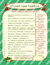 Printable Halloween Riddles by Christmas Riddle Game Diy Holiday Party Game Printable