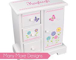 personalized girl jewelry box jewelry box etsy
