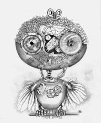 steampunk owl by winstonscreator on deviantart drawing