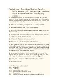 brain teasing questions 2