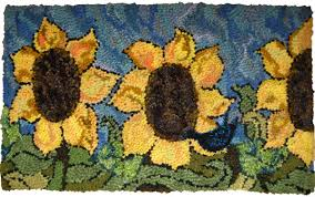 Sunflower Rugs Rug Hooking Kit One And Only Sunflower 20 By 30