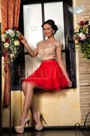 inpuff rochii rochie princess broderie aurie tul rosu