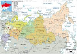 Map Of Russia And Alaska by States Of Russia Map