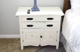 painting and beautifying an old nightstand jolly little times
