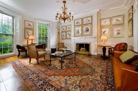 Rug In Living Room Antique Serapi In Townhouse Traditional Living Room Boston