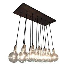 Exposed Bulb Chandelier Chic Chandelier With Exposed Bulbs Kitchen Lighting