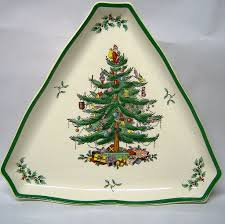 spode tree large triangular tray from