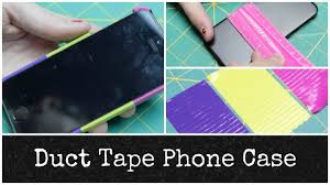 diy duct tape phone case allie young youtube