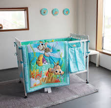 Underwater Crib Bedding Beautiful Four Pieces Of Baby Bumper Crib Bedding With Fabric Ties