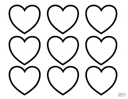 valentine valentines day blank hearts coloring page with