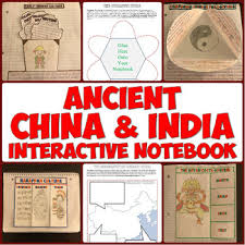 ancient china and the indus river valley interactive notebook tpt