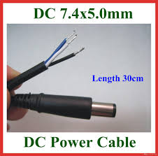 2018 dc tip plug 7 4 5 0mm 7 4x5 0mm dc power supply cable with