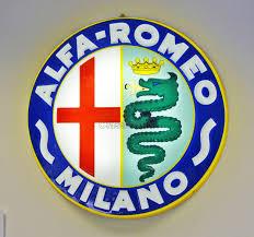 alfa romeo emblem ac099 large illuminated alfa romeo sign classic alfa
