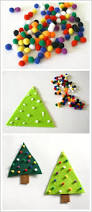 easy christmas crafts for kids felt christmas tree pin buggy