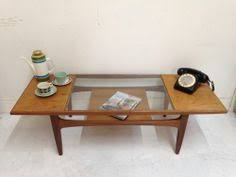 Vintage Glass Top Coffee Table New Smart Streamlined Style The Top Of Our Storage