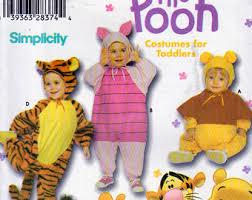 simplicity 9378 or 0603 disney costume winnie the pooh bear