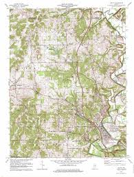 Indiana State Map Oolitic Topographic Map In Usgs Topo Quad 38086h5