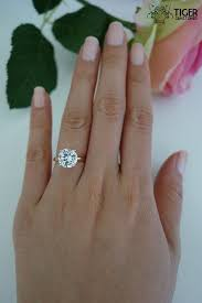 3 carat ring 3 carat 9mm solitaire engagement ring by tigergemstones