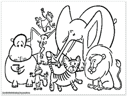 zoo animals coloring pages printable games sheet easy animal free